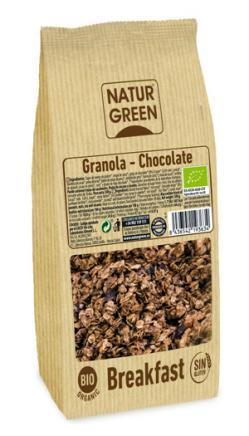 Granola chocolate sin gluten Bio Naturgreen