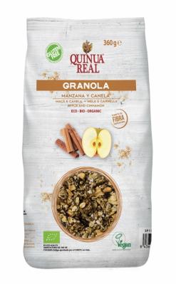 Granola Quinoa real con manzana y canela 360g.