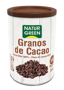 Granos de cacao troceados (Nibs) Naturgreen