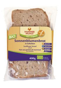 Pan de arroz con semillas de girasol bio 400g.