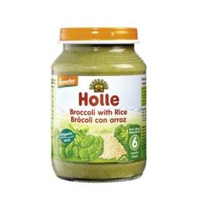 Potito de brócoli con arroz integral Holle 190g. (>6 meses)