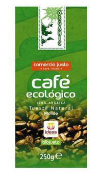 Café molido 100% arábica Ideas 250g.