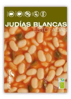 Judías blancas estofadas Soria Natural 300g.