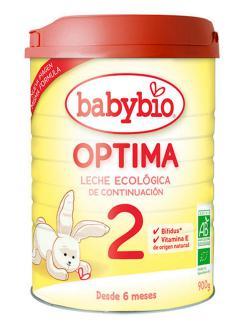 Leche infantil de continuación 2 Optima Babybio 900g.