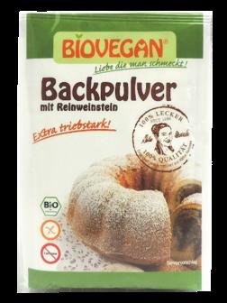 Levadura de pastelería extra fuerte Biovegan 4 sobres de 17 gramos