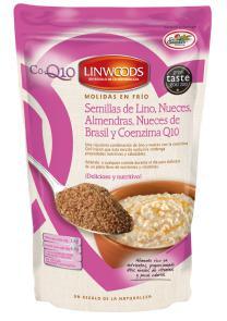 Semillas lino, nueces, almendras, nueces brasil y Q10 Linwoods 200g.