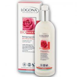Leche limpiadora Rosas bio Logona 125ml.