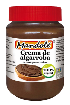 Crema de algarroba y avellanas Mandolé 375g.