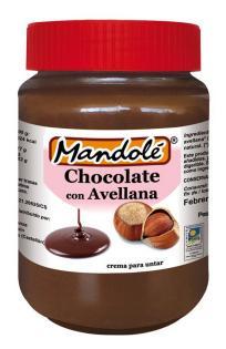Crema de chocolate y avellana Mandolé 375g.
