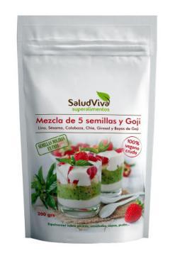 Mezcla semillas y bayas de goji Salud Viva