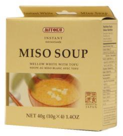 Sopa de Miso y Tofu Mitoku 4x10g.