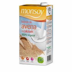 Bebida de avena calcio Monsoy 1l. (Paquete de 4 unidades)