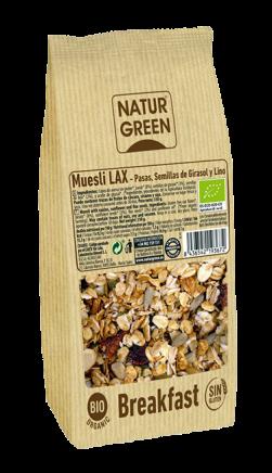 Muesli Lax Ecológico y Sin Gluten Naturgreen