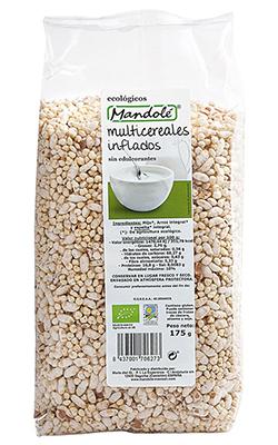 Multicereales inflados sin edulcorantes Mandolé 175g.