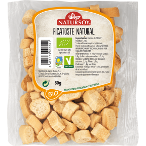Picatoste natural Natursoy 80g.