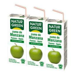 Zumo manzana mini Naturgreen 200ml.