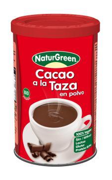 Cacao a la taza en polvo Naturgreen 250g.