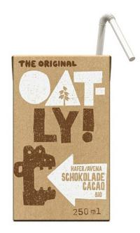 Bebida de avena chocolate Oatly bio 250ml.