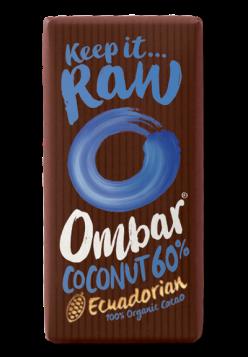 Tableta de chocolate negro con crema de coco Ombar