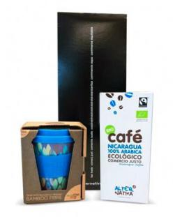 Pack regalo aqua vaso bambu café Alternativa