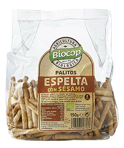 Palitos de espelta con sésamo Biocop