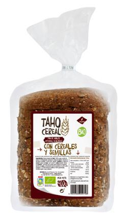 Pan integral de cereales y semillas bio 400g.