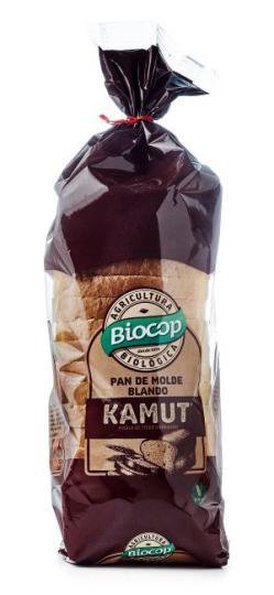 Pan de molde kamut Biocop 400g.