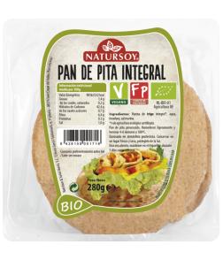Pan de pita integral Natursoy 250g.