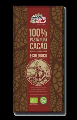 Cacao puro 100% Chocolates Solé 100g.