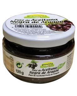 Paté oliva negra tarro cristal Granovita 90g.