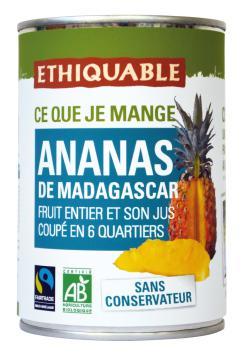 Piña ecológica en su jugo Ethiquable