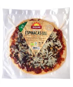 Pizza con espinacas, pasas y piñones Biográ