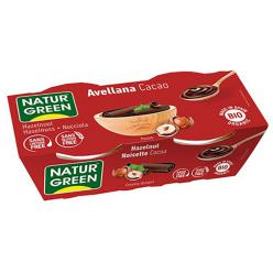 Postre de avellana y cacao Naturgreen