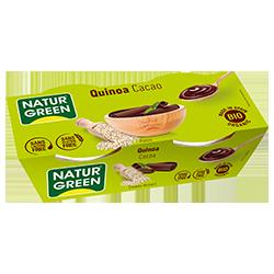 Postre quinoa cacao Naturgreen 2x125g.