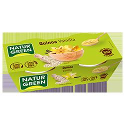 Postre de quinoa y vainilla Naturgreen 2x125g.