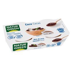 Postre de coco cacao Naturgreen 2x125g.