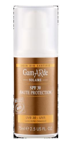 Protector solar 30 Gamarde, 75ml.