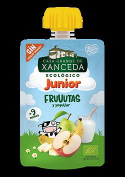 Puré Junior de frutas y yogur ecológico Xanceda