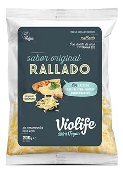Queso vegano rallado sabor Original Violife