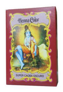 Tinte henna polvo super caoba oscuro Radhe Shyam 100g.