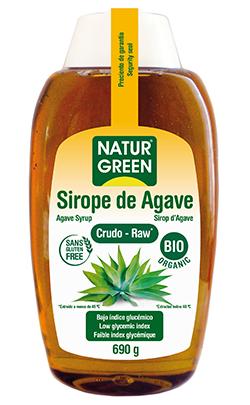 Sirope de agave crudo ecológico Natrugreen