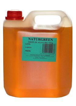 Sirope de agave sin gluten Naturgreen garrafa 7kg.