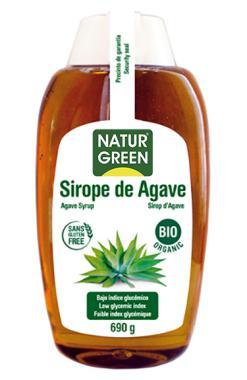 Sirope de agave bio Naturgreen 500ml.