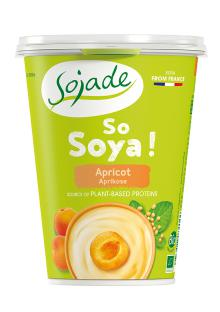 Yogur soja albaricoque Sojade 400g.