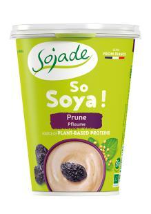 Yogur soja ciruela Sojade 400g.