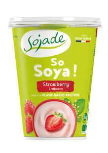 Yogur de soja fresas Sojade 400g.