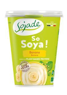 Yogur de soja plátano Sojade 400g.