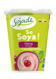 Yogur soja cereza Sojade 400g.