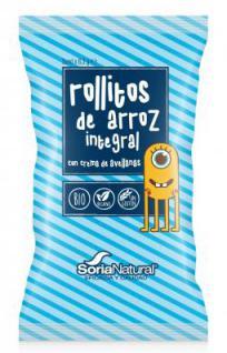 Snacks de arroz integral con crema de avellanas 3x8.3g. en Biosano