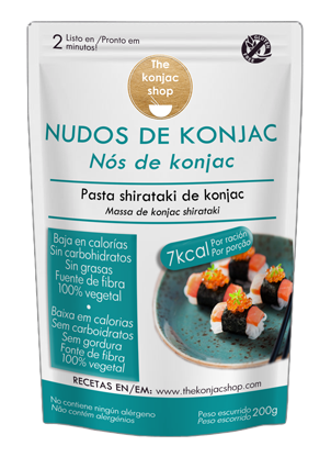 Fideos en nudos de konjac The konjac shop 200g.